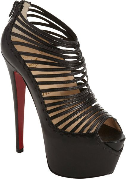 fake christian louboutins online - Black Zoulou high heels by Christian Louboutin. Smooth leather ...