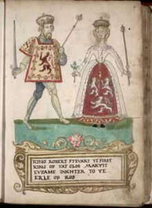 Euphemia de Ross (? - 1386). Queen of Scotland from 1371 to her death in 1386. She married Robert II and had five children.: Genealogy Trees, Forman Armorial, Armorial 1562, Family History, Euphemia Ross