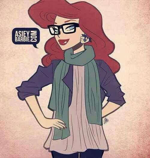 Modern hipster Ariel