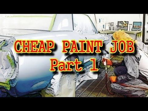 1 How To Paint Your Car Cheap Using Epoxy Primer Part 1 Youtube Epoxy Primer Auto Body Work Car
