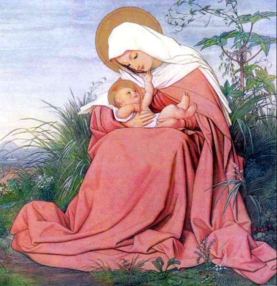 Eduard Von Steinle (1810-1886) — Madonna and Child   (700x723):
