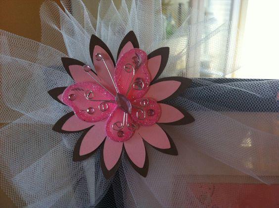 Cricut Flower Shoppe ans aome tulle, ebay butterflies