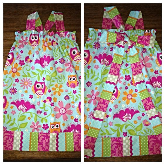 Owl dress with bow in back on Etsy, $30.00