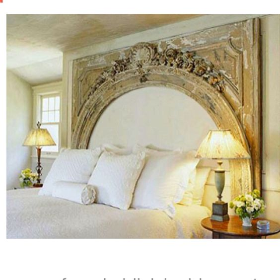 What A Great Idea For A Headboard Using An Old Mantle