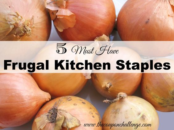 Ever wonder what are the most useful foods you can keep stocked in your pantry?  See this list of 5 MUST HAVE Frugal Kitchen Staples.  Save money in the kitchen just by keeping these items on hand.
