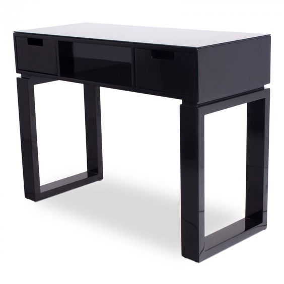 Ming black manicure table nail in spa rations for Black nail desk