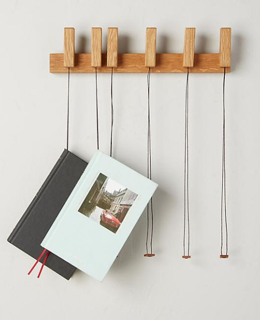 wooden book rack