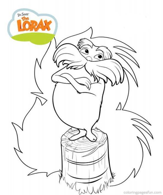 Dr Seuss the Lorax Coloring Pages 8 - Free Printable Coloring Pages ...