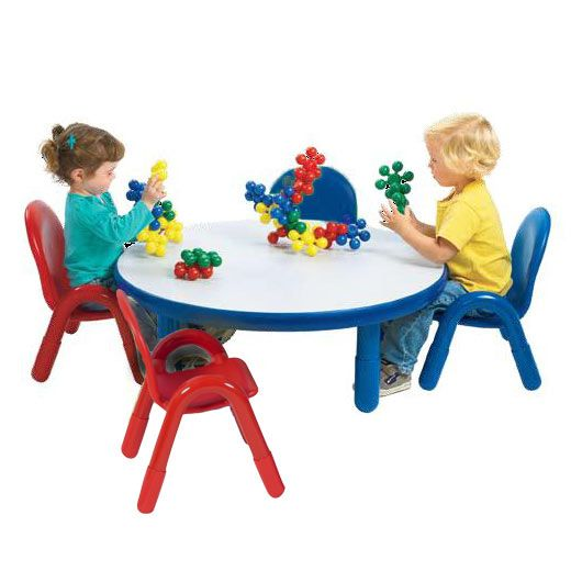 Baseline Toddler Table Chair Set By Angeles 36 Round Ab74912 14249 Toddler Table Preschool Tables Table Chairs