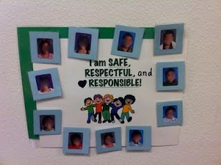 PBIS behavior charts: Kinderpond: Safe Respectful and Responsible