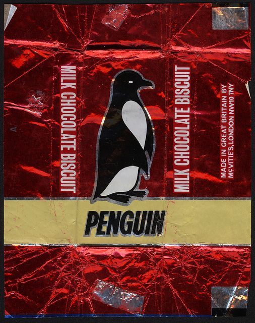 McVities - Penguin chocolate  biscuits!  YUM!                                                                                                                                                           UK - McVities - Pengin chocolate biscuit foil ...    ..