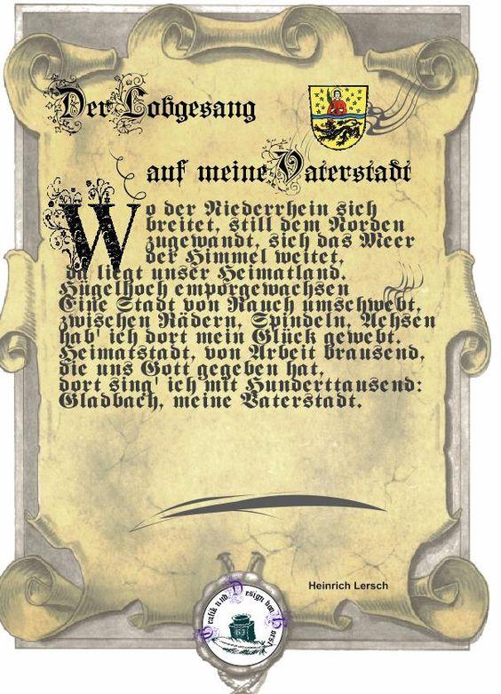 Heinrich Lersch (* 12. September 1889 in Mönchengladbach; † 18. Juni 1936 in Remagen) war ein deutscher Arbeiterdichter und Kesselschmied.Heinrich Lersch wurde in München-Gladbach (heute Mönchengladbach) geboren. Nachdem er von seinem Vater das Handwerk des Kesselschmieds erlernt hatte, ging Lersch auf Wanderschaft und arbeitete in verschiedenen deutschen Städten.