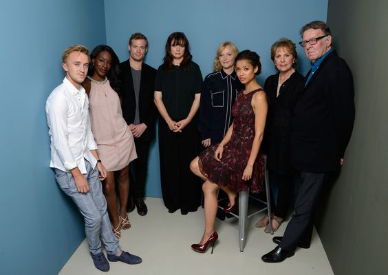 Sam Reid Photos - (L-R) Actor Tom Felton, director Amma Asante, actor Sam Reid, actress Emily Watson, actress Miranda Richardson, actress Gugu Mbatha Raw, actress Penelope Wilton and actor Tom Wilkinson of 'Belle' pose at the Guess Portrait Studio during 2013 Toronto International Film Festival on September 9, 2013 in Toronto, Canada. - 'Belle' Portraits in Toronto