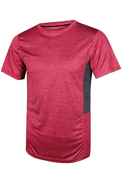 Men/'s Dry-Fit Moisture Wicking Active Athletic Performance Crew T-Shirt 5 Pack