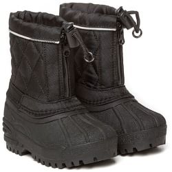 Burberry Toddler Black/ House Check Snow Boots - product - Product Review