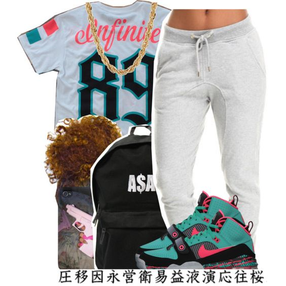 Untitled #720 by lulu-foreva on Polyvore featuring ASAP, NIKE and Baby Phat