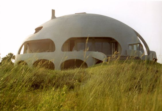 Image: Eye of the Storm — This Monolithic Dome home, on a beach site on Sullivans Island, South Carolina, is a prolate ellipse measuri...: