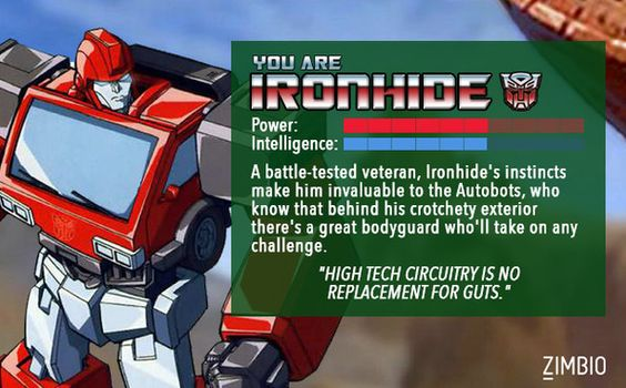 Which Transformer are you? quiz| I got Ironhide.