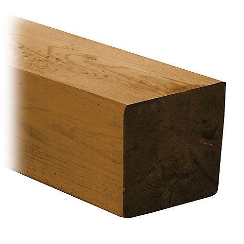Traité sous pression avec un agent de préservation à base de cuivre afin dassurer une bonne performance à long terme extérieure des terrasses et des clôtures ainsi que laménagement paysager, le bois Cedartone Classic est teinté en nuances chaleureuses de cèdre naturel. Les poteaux carrés de 6x6 sont fabriqués à partir du bois de haute qualité et traités à laide dun agent de préservation pour les normes de contact avec le sol.