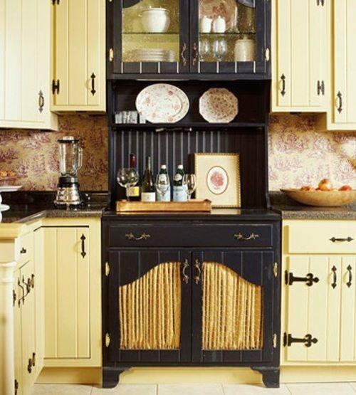 Erneuerung der Küche mit farbenfrohen Stoffen - rustikaler Stil