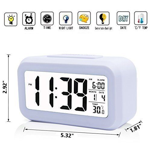 Iprotect Battery Operated Small Digital Alarm Clock Perfect For