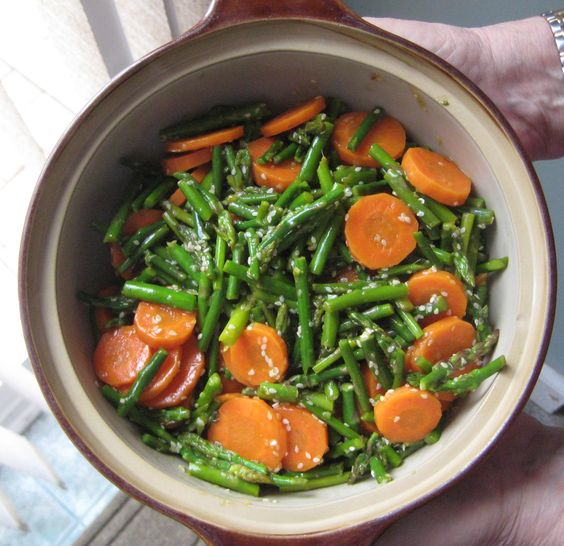 Sesame Asparagus with Carrots