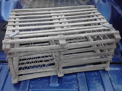 Lobster traps make great coffee or end tables, painted, stained or sealed with acrylic.