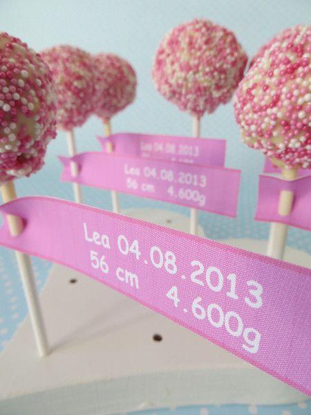 Schokolade & Süßigkeiten - 6 Fähnchen für Cake Pops Stiele Sticks - ein…
