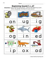 7 letter words ending in ed phonics beginning sounds worksheets initial sounds 15470