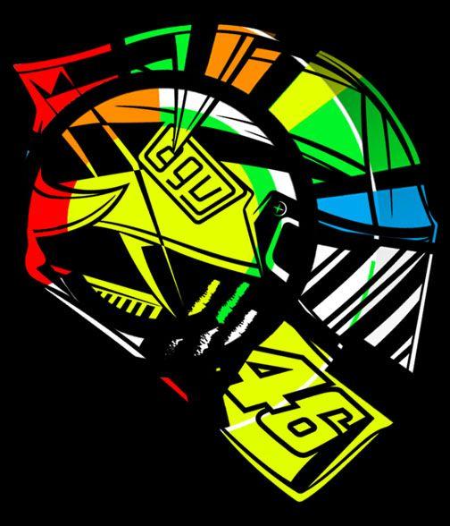 Agv Vr46 Seni Karya Seni 3d Seni Grafis