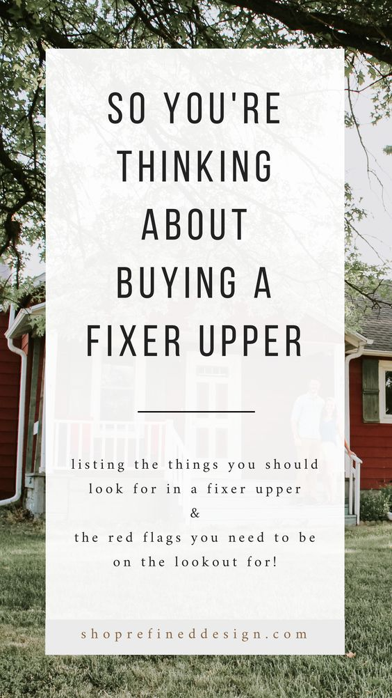 So you're thinking about buying a fixer upper house? Don't buy a fixer upper if it has this red flag. Sharing the things you should avoid when looking to buy your first fixer upper house and the key features you should look for in a fixer upper home renovation project. It's a fixer upper home buying guide if you will. Refined Design - ShopRefinedDesign.com #homerenovationtips #homerenovations #fixerupper #homeremodeling