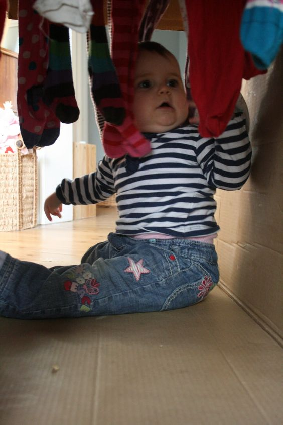 The Imagination Tree: Baby Play: Cardboard Box Play Tunnel