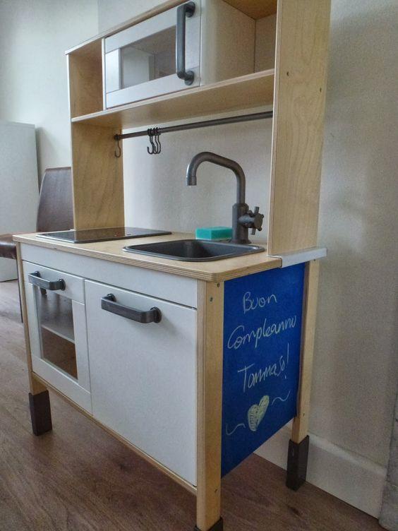 blue and ampersand: ikea hack - duktig kitchen | sam's room