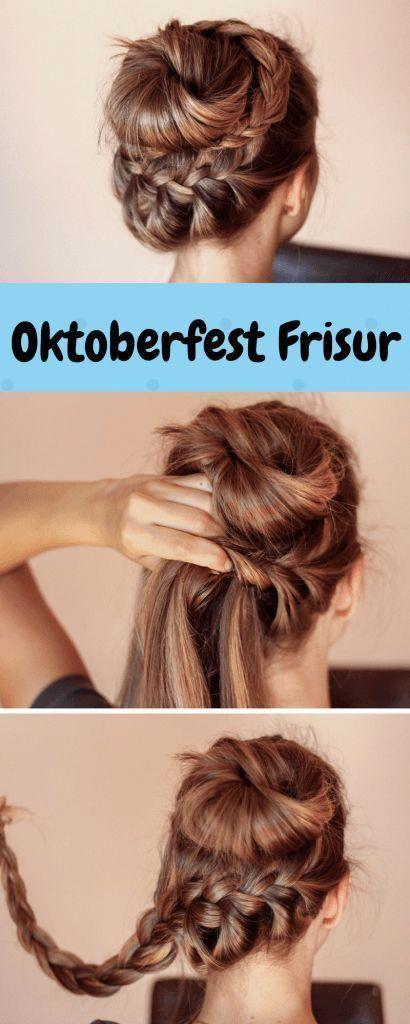 Die Oktoberfest Frisur Fur Mittellang Und Langes Haar Flechtfrisur Fur Die Wiesn Der Countdown Furs Oktoberfe Dirndl Frisuren Oktoberfest Frisur Wiesn Frisur
