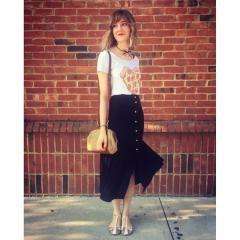 Monki | Monki High Waisted Button Up Denim Skirt