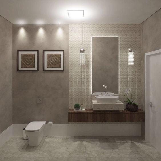 lavabo lindoo! #atosarquitetura #lavabo #banheiros #ceramicaportinari #sidesh -> Cuba Banheiro Sketchup