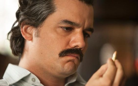 Pablo Escobar as portrayed by Wagner Moura in the Netflix series Narcos