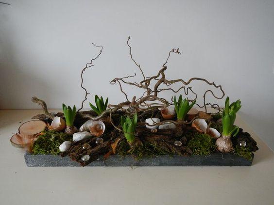 Bloemstuk stronk hyacint google zoeken bloemschikken pinterest zoeken - Decoratie schotel ...