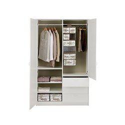 musken kleiderschrank m 2 t ren 3schubl wei 169 00 preise sind in inkl gesetzlicher mwst. Black Bedroom Furniture Sets. Home Design Ideas