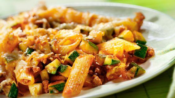 Toevoegen aan mijn receptenMaak dit heerlijke pastagerecht eenvoudig klaar voor één persoon. Tip: Ook lekker met wat rundergehakt.
