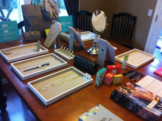 My Stella & Dot trunk show display! www.stelladot.com/karilinder