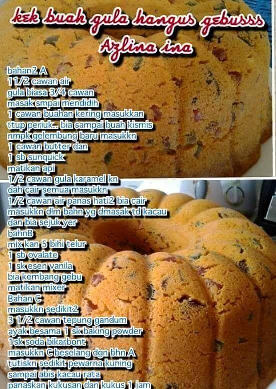 Resipi By Azlina Ina Cake Recipes Cooking Recipes Fruitcake Recipes