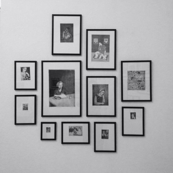 "A wall with etchings from my ""Strich im Universum"" exhibition in the Austrian Cultural Forum in Belgrade, Serbia.   #printmaking #etchings #framing #hanging #art #exhibition #wall #belgrade #serbia"