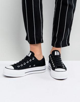 postre Sinceridad Empresario  Zapatillas de deporte negras con plataforma Ox Chuck Taylor All Star de  Converse | Zapatillas converse negras, Vestido y zapatillas, Moda con  zapatillas
