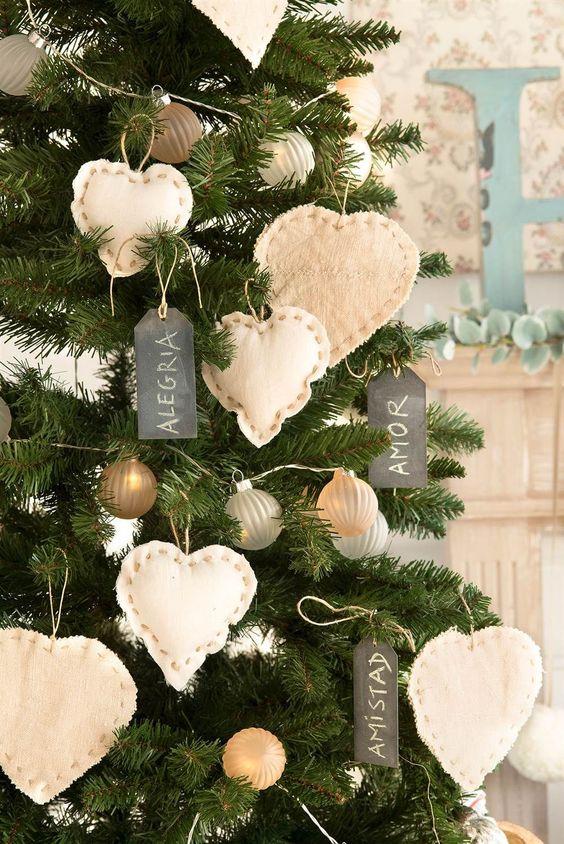 Detalles adornos navide os de tela en blanco - Adornos navidenos en tela ...