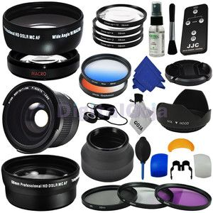 Essential Lens Set Filter Kit for 58mm Canon Rebel T4i T3i T3 T2i T2 T1i XS | eBay --- except you don't need 2 hoods and 3 kinds of macro. plus, those 'lenses' just screw on like filters. get a real lens! #CameraSnob