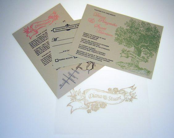 gocco printer wedding invitations | Diana's print gocco wedding invitation; location information, RSVP ...