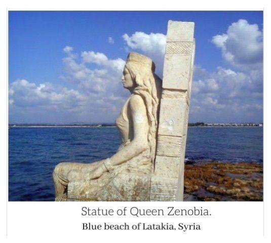 Statue of Queen Zenobia stands watch in the Mediterranean Sea | Ancient  cultures, Statue, Blue beach