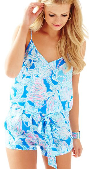light blue beachside romper - Lilly Pulitzer