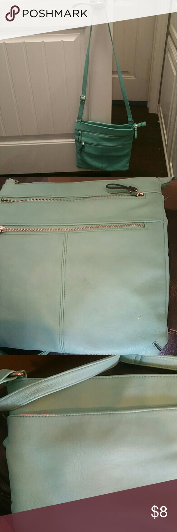 Turquoise shoulder purse Used purse. Good condition. A few minor flaws that can be seen in the last two pics. Bags Shoulder Bags